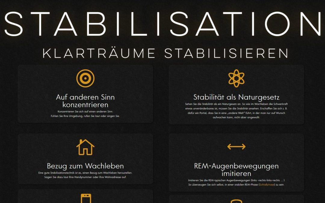 Stabilisationstechniken – Klarträume stabilisieren